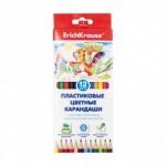 Цветные пластиковые карандаши, Erich Krause, 12 шт.